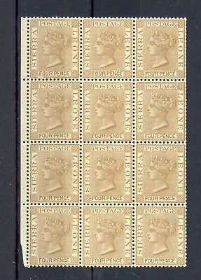 Sierra Leone 1884 Sg# 33 -Block Of 12 -- Mnh Vf ** Rare In This Condition !! @1