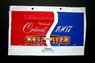 CONTINENTAL 1967 - 1960's WILLARD'S CANADA Chocolate Candy Bar Wrapper