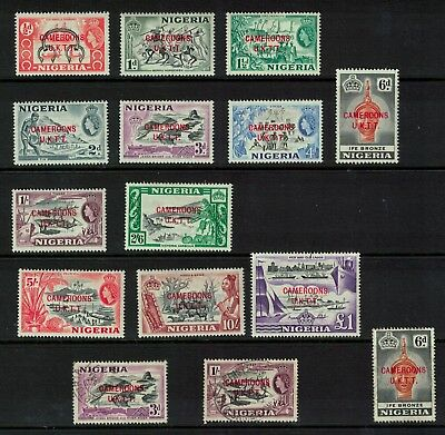 Cameroons trust stamp - 1961 nigeria overprnits Mint to £1 / fine used good lot