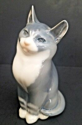 Royal Copenhagen Porcelain Figurine Of Seated Cat #1803 (No Reserve)
