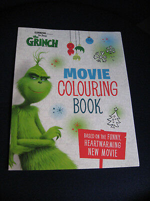 Dr. Seuss' THE GRINCH Movie Colouring Book, NEW