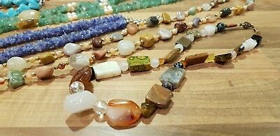 Job Lot of Gemstone & Pearl Jewellery Necklaces