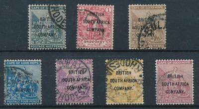 [38730] South Africa 1896 Good RARE set Very Fine used stamps Value $430
