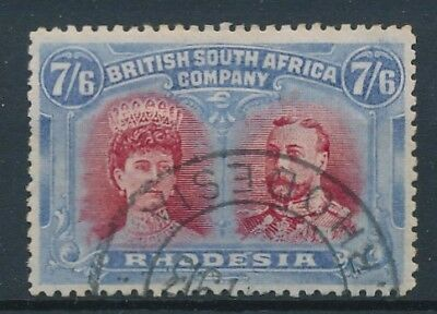 [38753] Rhodesia 1910 Good SCARCE stamp Very Fine used Value $1150