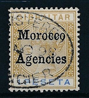 [38854] British Morocco 1898 Good stamp Very Fine used