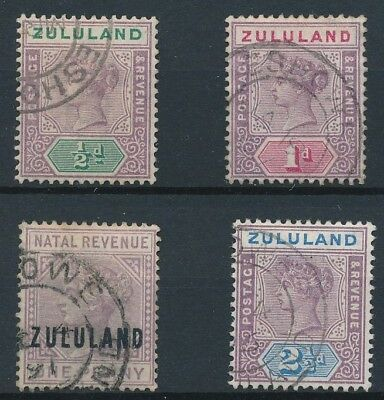 [39189] Zululand 1888/1896 Good lot Very Fine used stamps