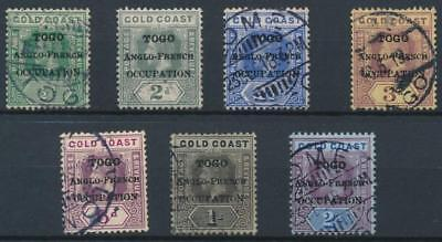 [39215] British Occ. Togo 1916 Good lot Very Fine used stamps