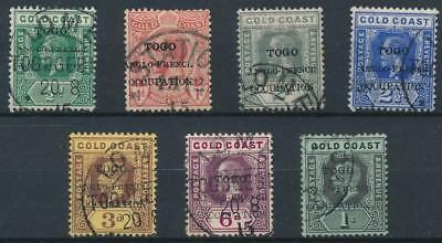 [39221] British Occ. Togo 1915 Good lot Very Fine used stamps