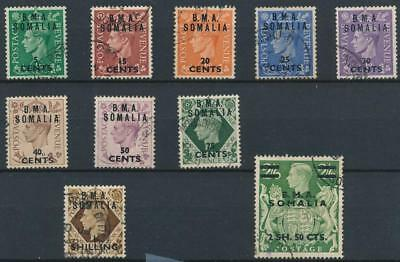 [39236] UK East Africa Forces in Somalia 1948 Good lot Very Fine used stamps