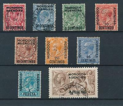 [39257] British Morocco 1914 Good lot Very Fine used stamps