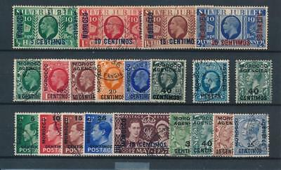[39258] British Morocco Good lot Very Fine used stamps