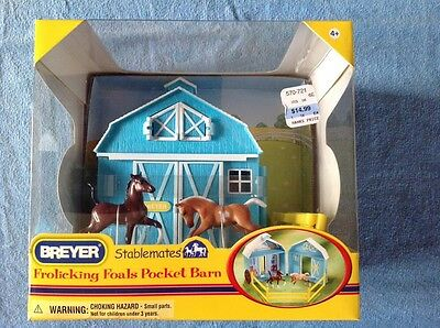 BREYER Stablemates:  FROLICKING FOALS  POCKET BARN  # 5932  NIB