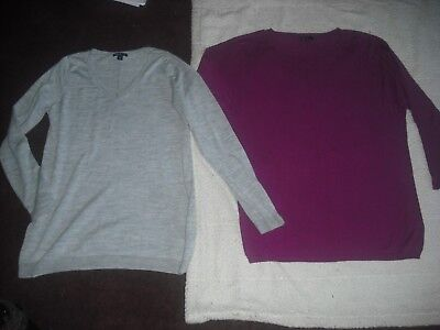 Womens Lot 2 GAP Maternity Sweaters Size L Large Super Nice