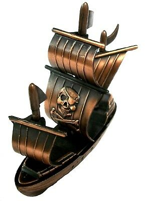 Sailing Ship with Pirate Die Cast Metal Collectible Pencil Sharpener