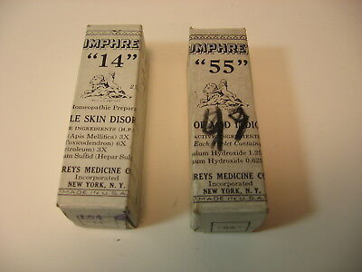 Antique Humphreys Homeopathic Medicine  #14 Skin disorders& #55 indigestion
