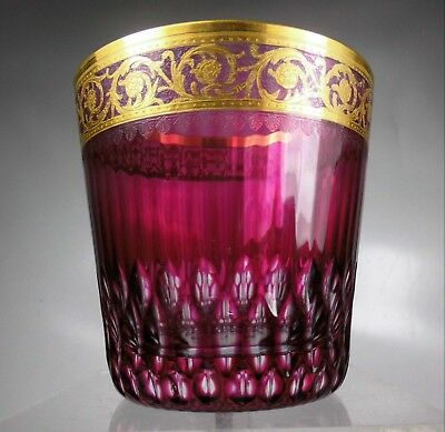 """ST. LOUIS THISTLE GOLD Kristall  Glas Whisky HIMBEERE """"8,6cm""""  Whiskyglas"""