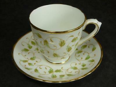 ROYAL CHELSEA  CUP + SAUCER, SCROLLING LEAVES, 4691,1940s