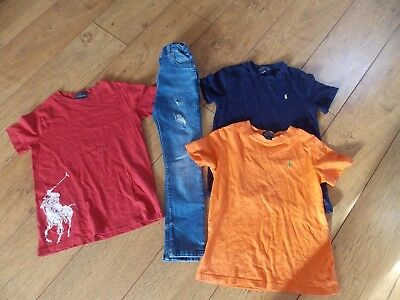 Boys Ralph Lauren T-Shirts River Island Jeans Age 7 Years