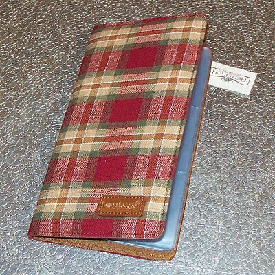 Longaberger Orchard Park Plaid BUSINESS CARD Holder Case ~ Brand New with Tags!