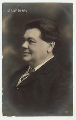 REAL PHOTO POSTCARD RUSSIAN EMPIRE VIOLINIST ADOLPH BRODSKY c1910
