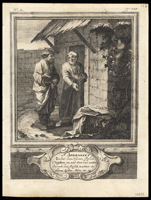St Aphraate A Persian Hermit German Engraving of The Solitary or Hermit Saints