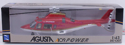 NewRay Agusta A109 Power Red Diecast Helicopter New in Box