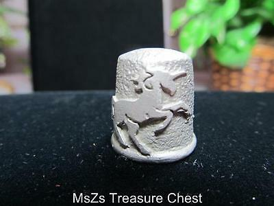 Small Pewter Unicorn Thimble Collectible Keepsake     ** Includes gift box **