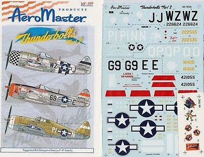 Aeromaster Decal Nr.48-789 P-47D Thunderbolts Part 2 1/48