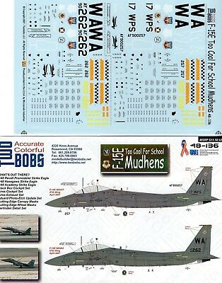 Twobobs Decals 48-136 F-15E Too Cool For School Mudhens 1/48