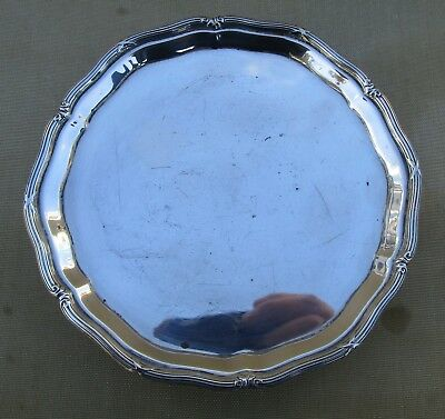 Antique George V sterling silver salver, 186 grams, 1913, 6 inches