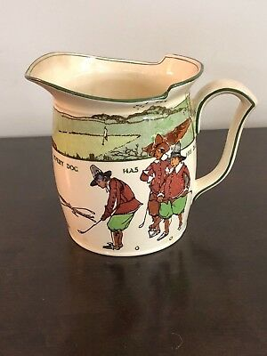 Royal Doulton Charles Crombie Series Golf Pitcher