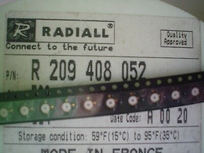 Radiall R209408052 STRAIGHT FEMALE RECEPTACLE CONNECTOR FOR PCB