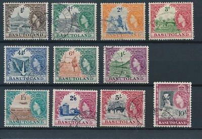 [50805] Basutoland 1954 good set Used Very Fine stamps $70