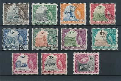[50808] Basutoland 1961-63 good set Used Very Fine stamps $85