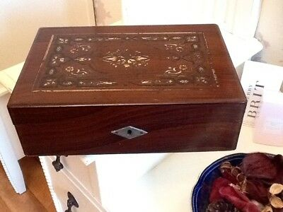 A Vintage Old Writing Slope Box