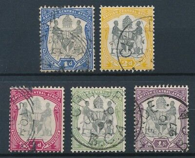 [50908] British central Africa 1898-1900 lot 5 good Used Very Fine stamps