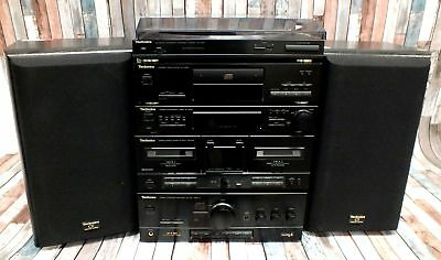 TECHNICS HiFi System SL-PJ28A ST-X302L RS-X120 SU-X120 + Speakers - B75
