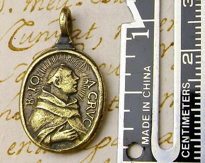 RARE Antique John of the Cross 1675 BEATIFICATION & Teresa of Avila Rosary Medal