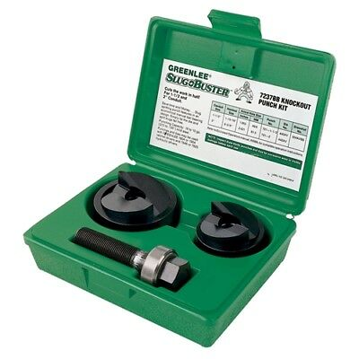 """Greenlee 7237BB 1-1/2"""" and 2"""" Conduit Size Manual Slug-Buster Knockout Punch Kit"""