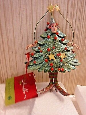 Dept 56 Patience Brewster  KRINKLES Ornament TREE WOMAN Ornament IOB