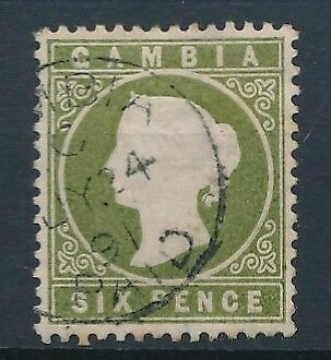 [51139] Gambia 1886-87 good Used Very Fine stamp