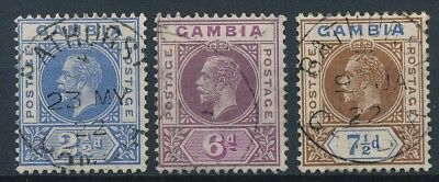 [51171] Gambia 1921 lot 3 good Used Very Fine stamps (multiple script CA)