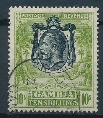 [51174] Gambia 1922 good Used Very Fine stamp $100 (multiple script CA)