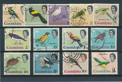 [51189] Gambia 1963 Birds good set Used Very Fine stamps $70