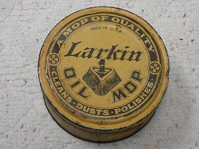Antique Advertising Tin Larkin Oil Mop USA