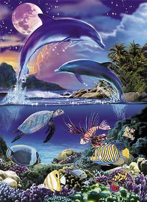"""DOLPHIN/WICCA/NEW AGE Portable Puzzles """"Dance of the Dolphins"""""""