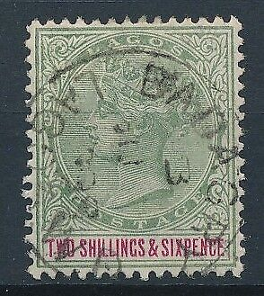 [51353] Lagos 1887-94 good Used Very Fine stamp $45 good cancellation