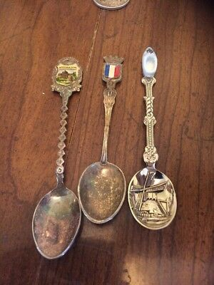 Lot Of 3 Souvenir Spoons From Europe