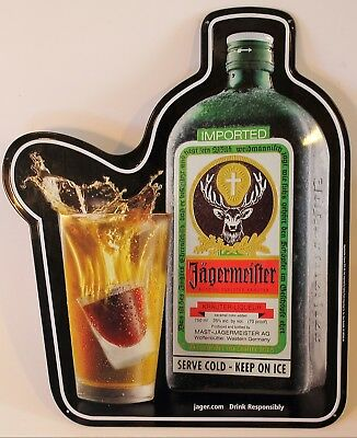 Genuine Vintage Jagermeister Bomb Steel Sign