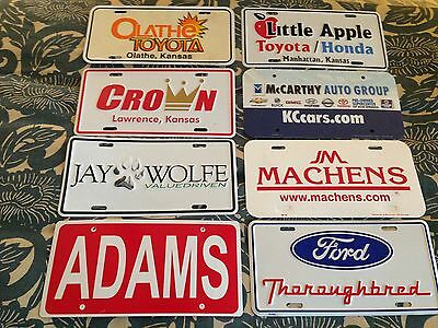 8 Dealership Automobile Ad License Tags